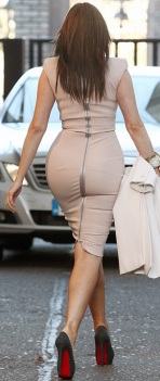 Carol Vorderman, rear with heels
