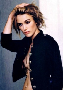 Keira Knightley - nipple showing in open jacket