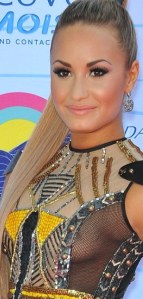 Demi Lovato sideboob with hint of nipple at Teen Choice Awards