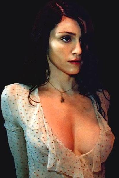 cleavage boobs Madonna big