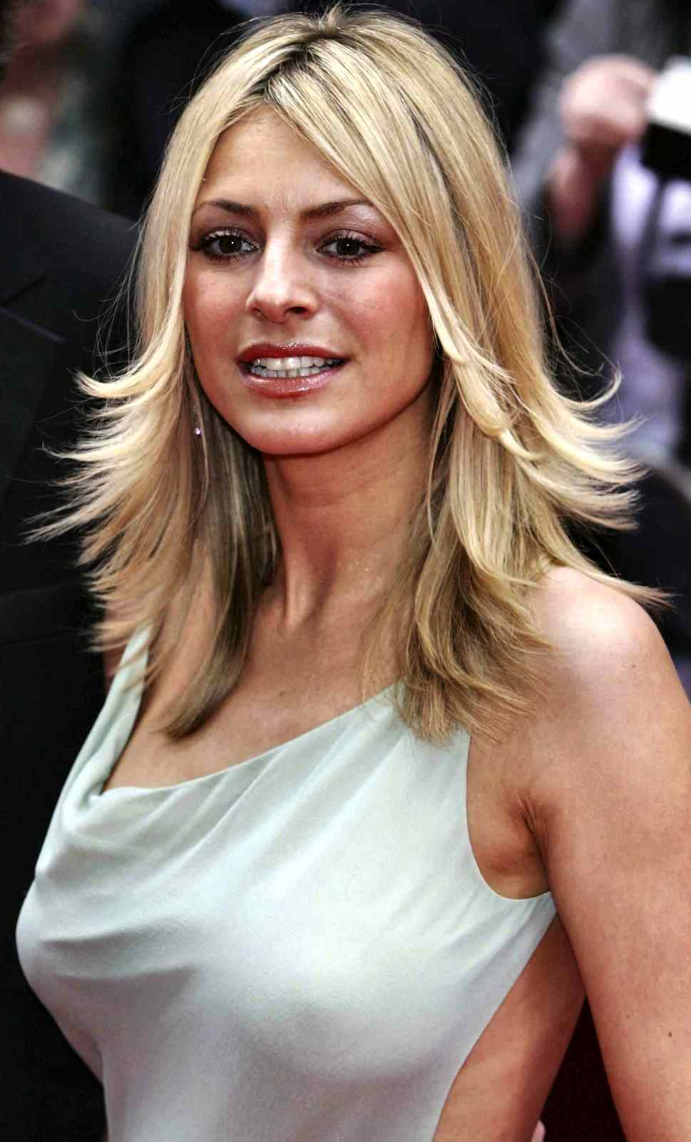 Tess Daly - see breasts under see-through dress - no bra