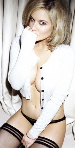 Helen Flanagan topless in stockings in FHM 2013 Calendar - photo copyright FHM