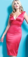 Curvy Holly Willoughby in red dress