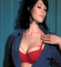 Gemma Arterton looks hot - shows boobs in red bra.