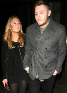 James Arthur and Kimberly Garner leaving Hakkasan