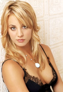 Kaley Cuoco  - Big Bang Theory actress in low cut top showing cleavage