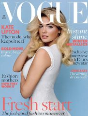 Kate Upton on cover of British Vogue January 2013