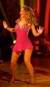 KImberley Walsh looking hot in red dress on Strictly Come Dancing