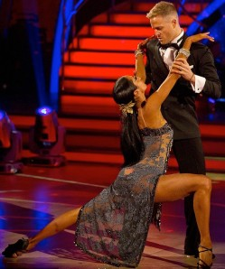 Strictly's Karen Hauer In See-Through Dress.