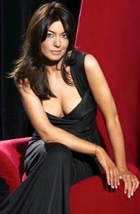 Claudia Winkleman in sexy low cut dress