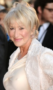 Dame Helen Mirren showing nipples under white dress. Hot Older Woman