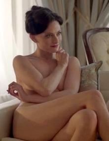 Naked Lara Pulver as domintrix Irene Adler in Sherlock