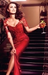 Penelope Cruz in red dress for Campari 2013 Calendar