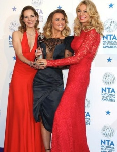 Tess Daly, Kimberley Walsh and Darcey Bussell with Strictly Come Dancing's National Television Award
