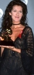 Celine Dion in see-through dress showing nipples and knickers at 1993 Grammys