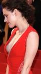 Kristen Stewart - breast on show in open dress