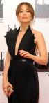 Rachel Stevens looking classy in low cut black dress at Elle Style Awards