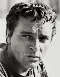 Richard Burton looking brooding