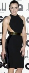 Victoria Pendleton in black dress with cutaway section