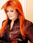 Wynonna Judd with reddy orange hair