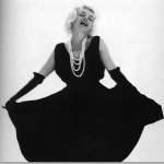 Black and white fashion photo from Marilyn Monroe's Last Session. Bert Stern.