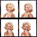 Contact sheet from Marilyn Monroe's Last Session photos. Bert Stern