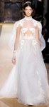 Daring see-through Valentino wedding dress