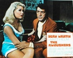 Dean Martin faces a Slaygirl and her bra gun in The Ambushers. 1967 movie starring Dean Martin as Matt Helm.