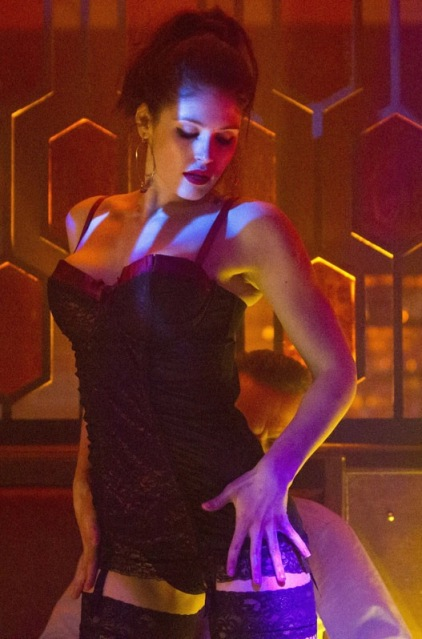 Gemma Arterton lapdancing in stockings and suspenders - sexy vampire in Byzantium