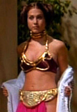 Jennifer Aniston as a fantasy Princess Leia in Friends