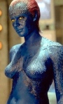 Jennifer Lawrence as naked mutant Mystique in X-Men