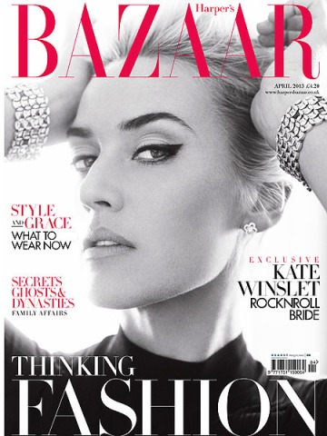 Kate Winslet on Harper's Bazaar cover March/April 2013