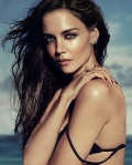 Katie Holmes removing bra in beach photo