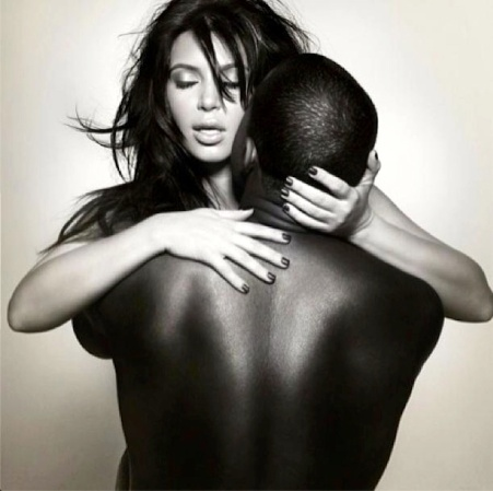 Kim Kardashian and Kanye West in simulated sex cover shot for French mag