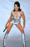 Liz Hurley as fembot Vanessa Kensington in Austin Powers