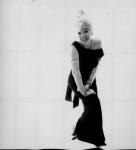 Marilyn Monroe smiling in glamorous black gown - Last Session photo. Bert Stern