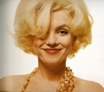 Marilyn Monroe smiling in nude photo from Last Session. Bert Stern