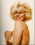 Marilyn Monroe with hand on breast in nude photo from Last Session