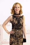 Nicole Kidman in nude black gown at Viennese Omega event