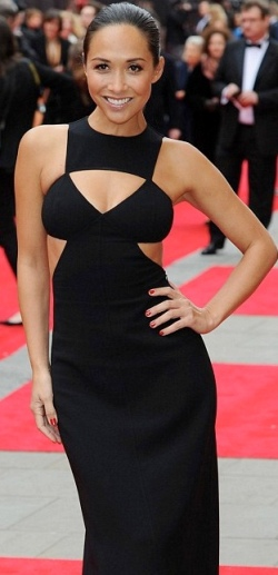Mylene Klass looking hot at Olivier Awards in sexy black dress