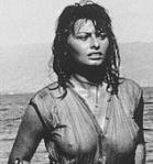 Sophia Loren nipples showing in wet top