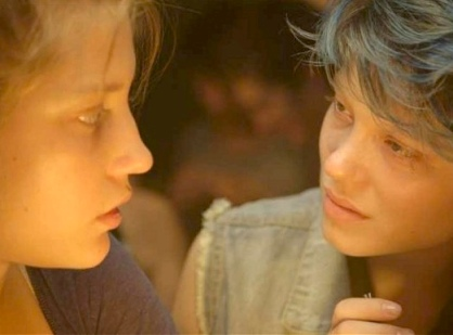 Adele Exarchopolous and Lea Seydoux in lesbian love story Blue is the Warmest Colour.