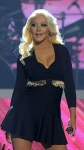 Christina Aguilera shows off cleavage and new slimmed down figure at Billboard Awards