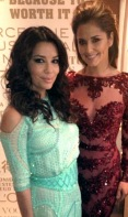 Eva Longoria and Cheryl Cole - Twitter photo from Cannes