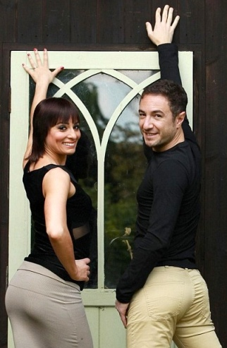 Flavia Cacace and Vincent Simone show off their pert bottoms having won the Rear of the Year Awards for 2013