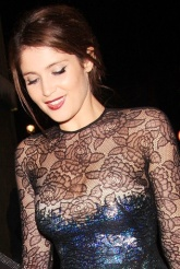 Gemma Arterton in lacy see-through dress