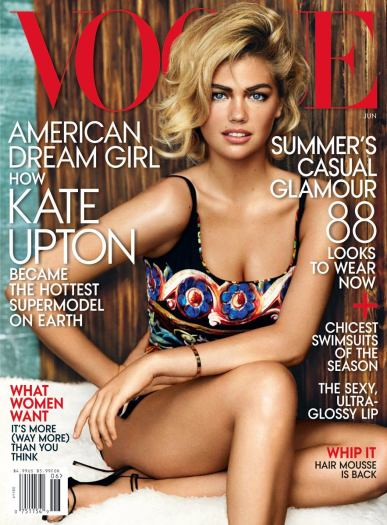 Kate Upton in 1st US Vogue cover