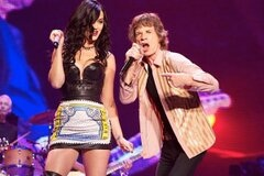 Katy Perry duet with Mick Jagger  - photo shared on her Twitter account