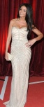 Michelle Keegan Sexiest Female winner at British Soap Awards shows cleavage in mermaid gown.