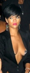 Rihanna shows breasts under open top. Hot. Sexiest Women FHM 2013.